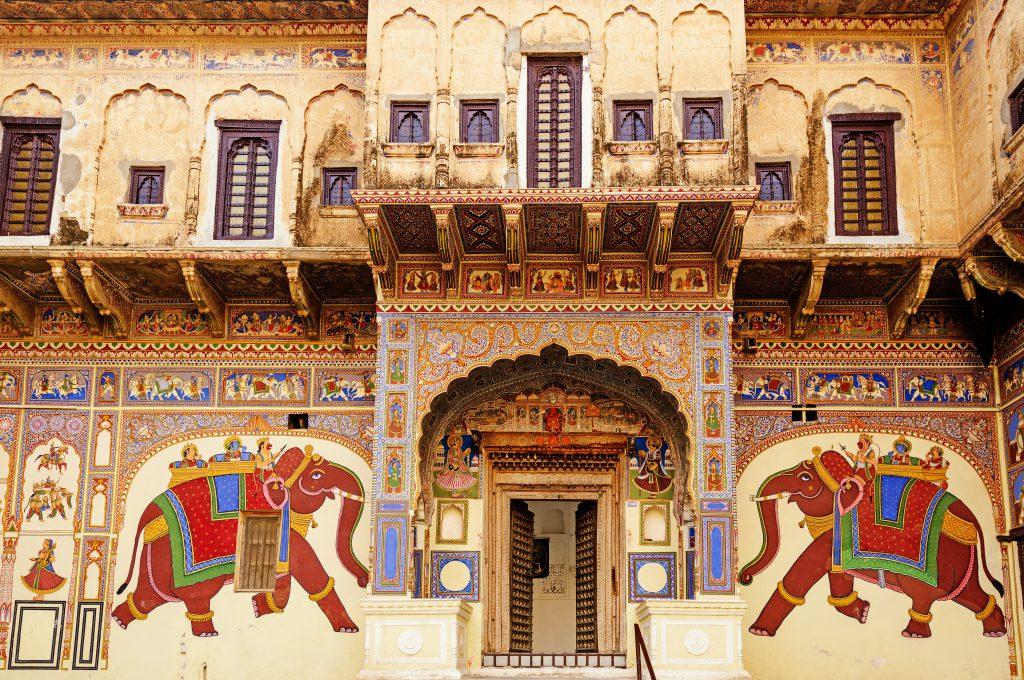 Haveli in Mandawa, Rajasthan, Indien