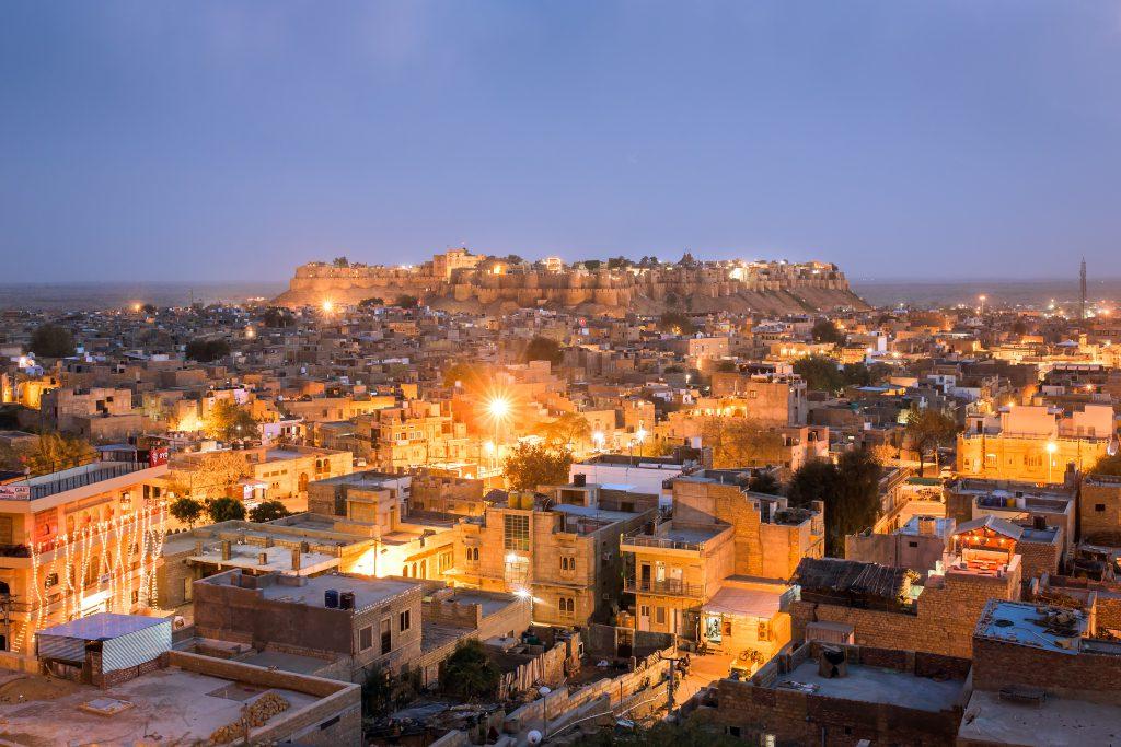 Ausblick über Jaisalmer und das Fort in Indien