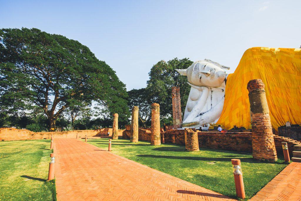 Liegender Buddha in Ayutthaya, Thailand