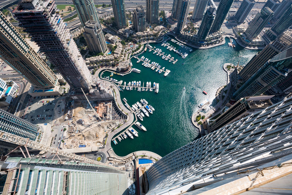 Dubai, Burj Khalifa, Boote