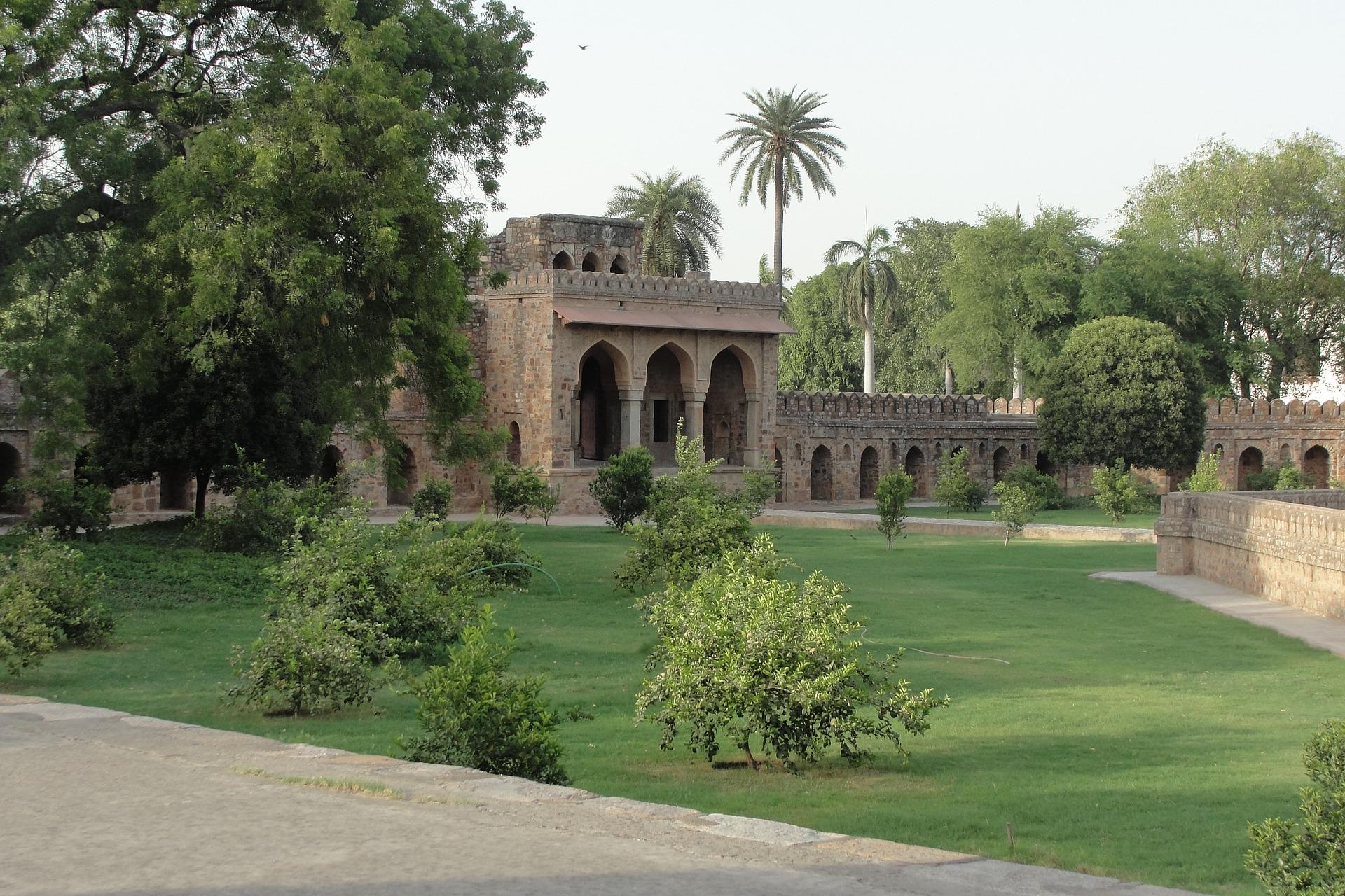 Delhi, Grünanlage, Grabmal, Indien