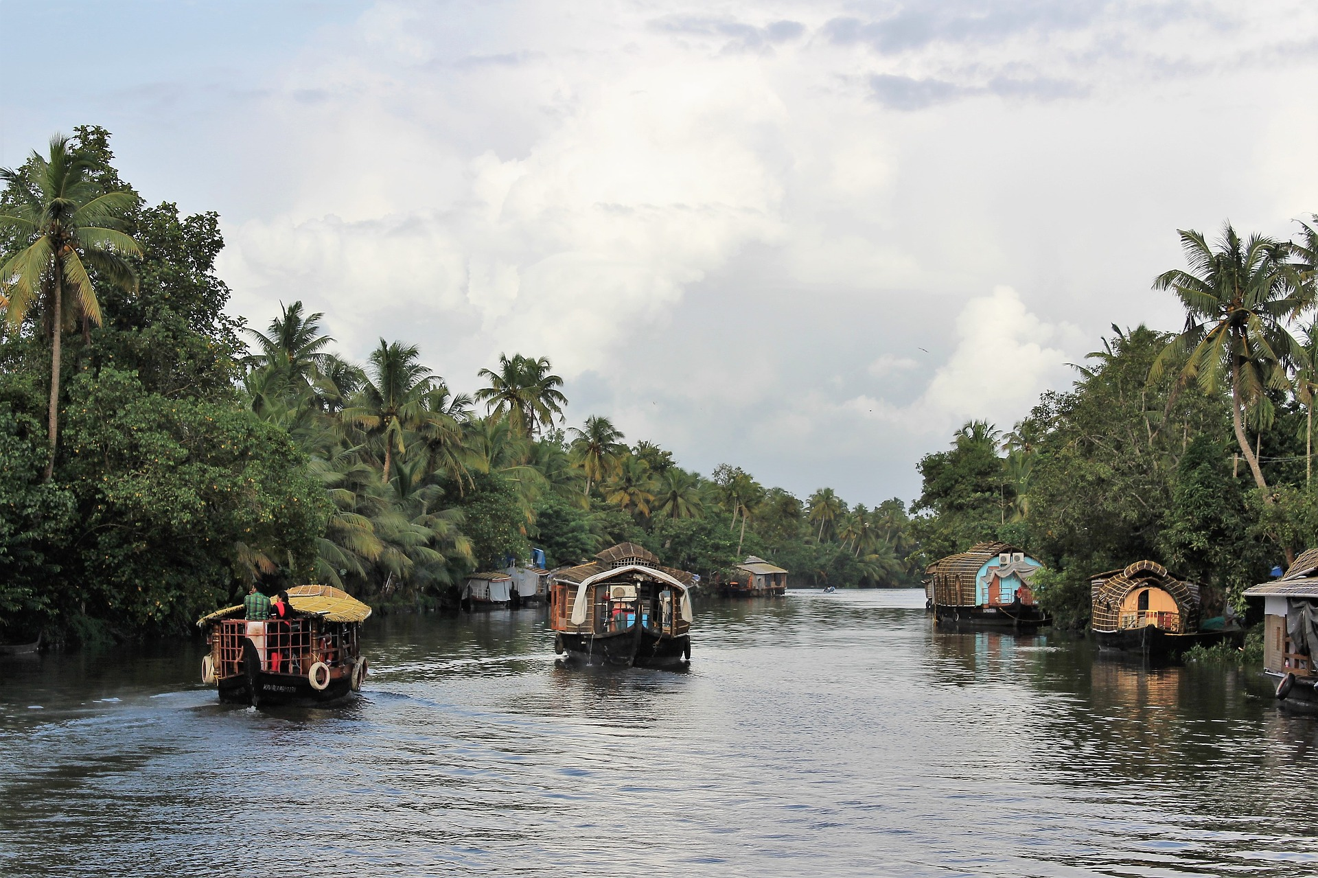 Hausboote, Backwaters, Kerala, Cochin, Indien