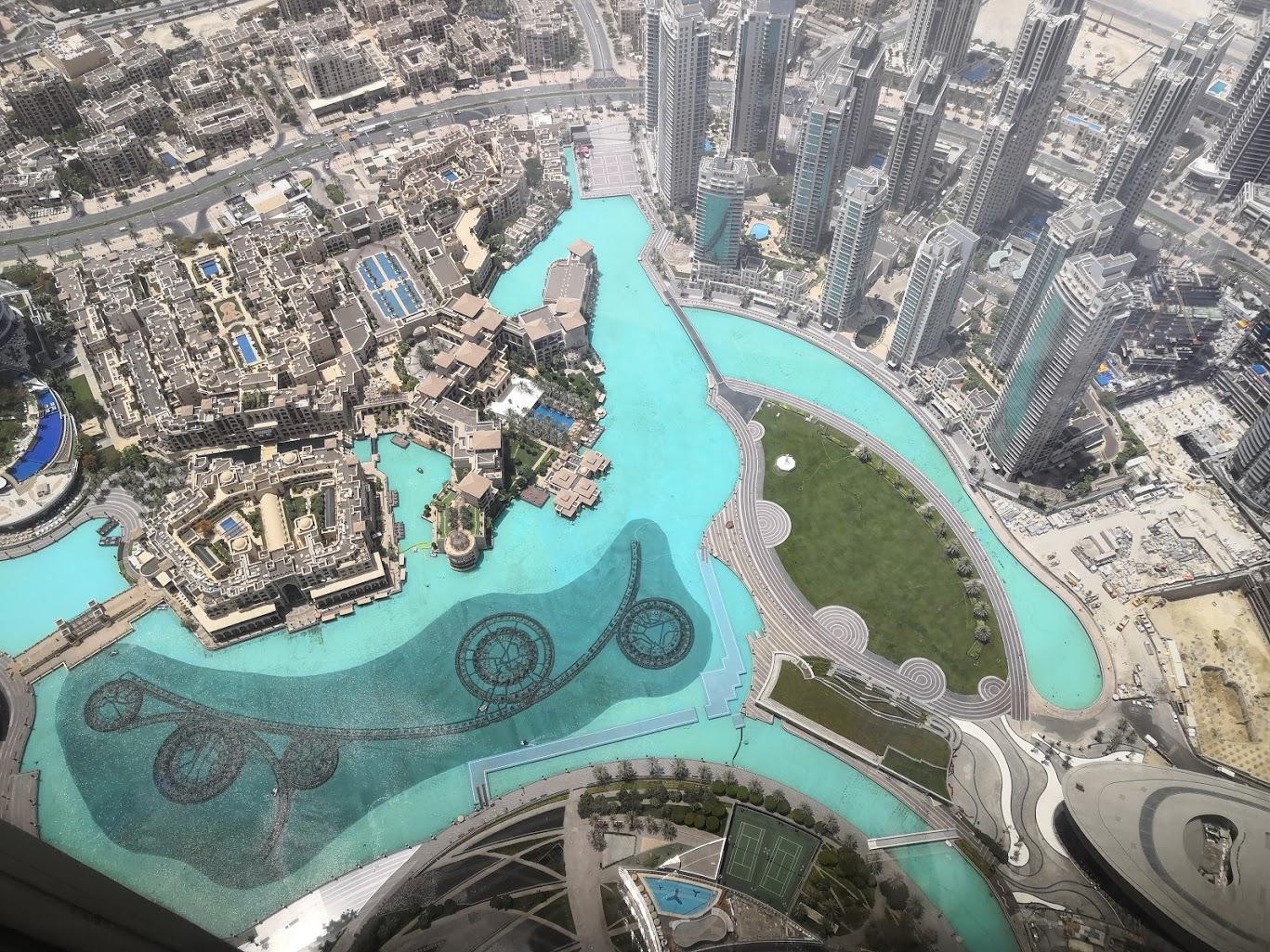 Aussicht vom Burj Khalif Dubai