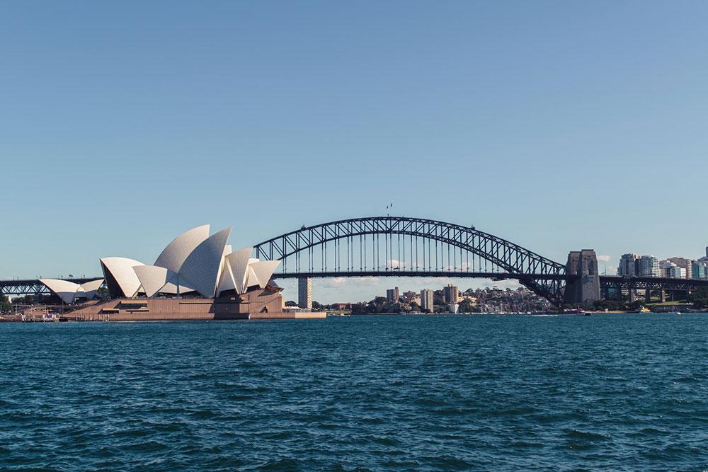 sydney opera house harbour bridge brücke wasser