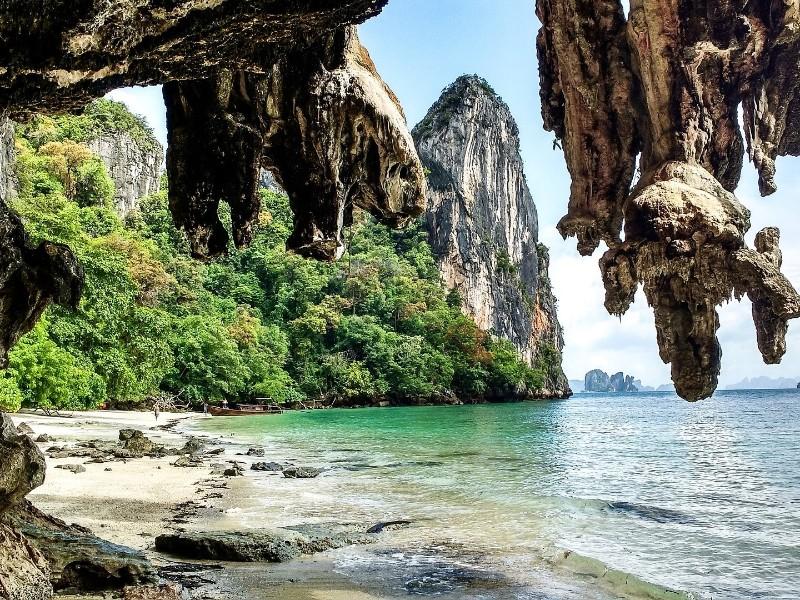 Thailand Krabi Kalkstein Strand