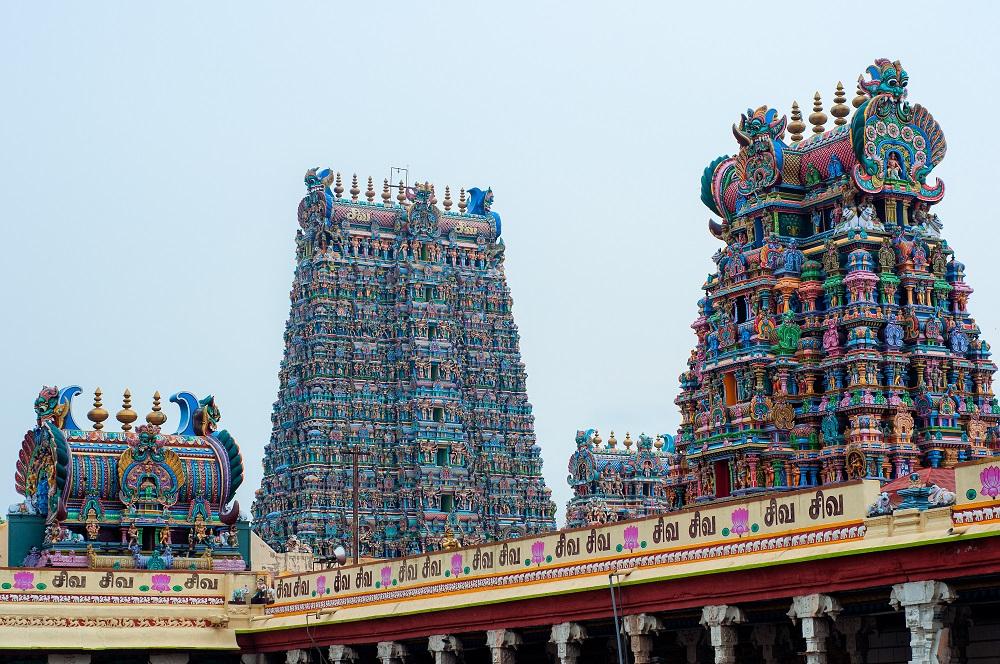 Tempelanlage Tempel Palast Madurai