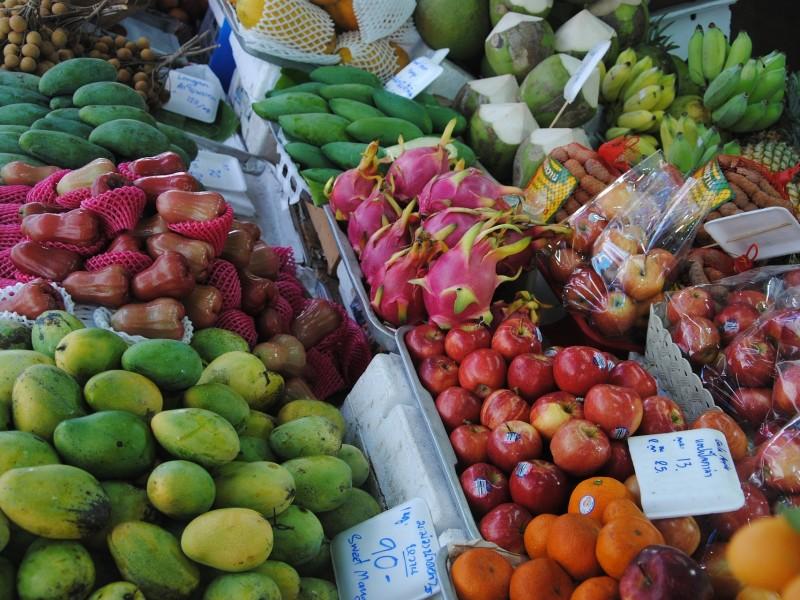 Thailand Bangkok Markt Streetfood Obst