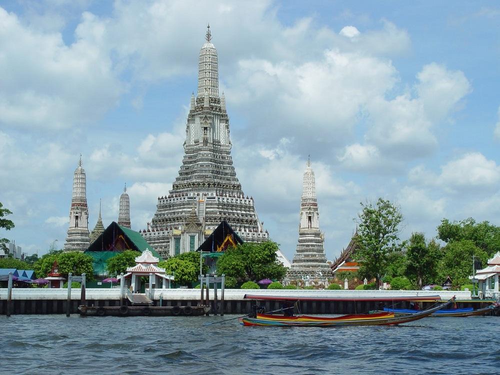 tempel tailand fluss kanal khlong bangkok