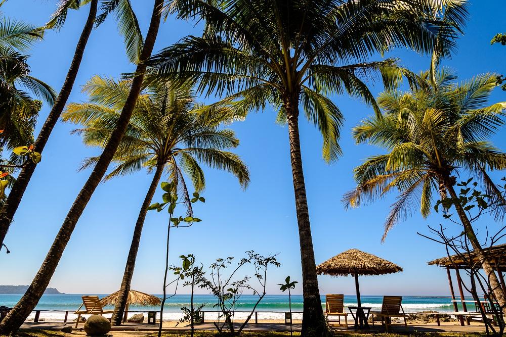 Ngapali Beach Strand Palmen